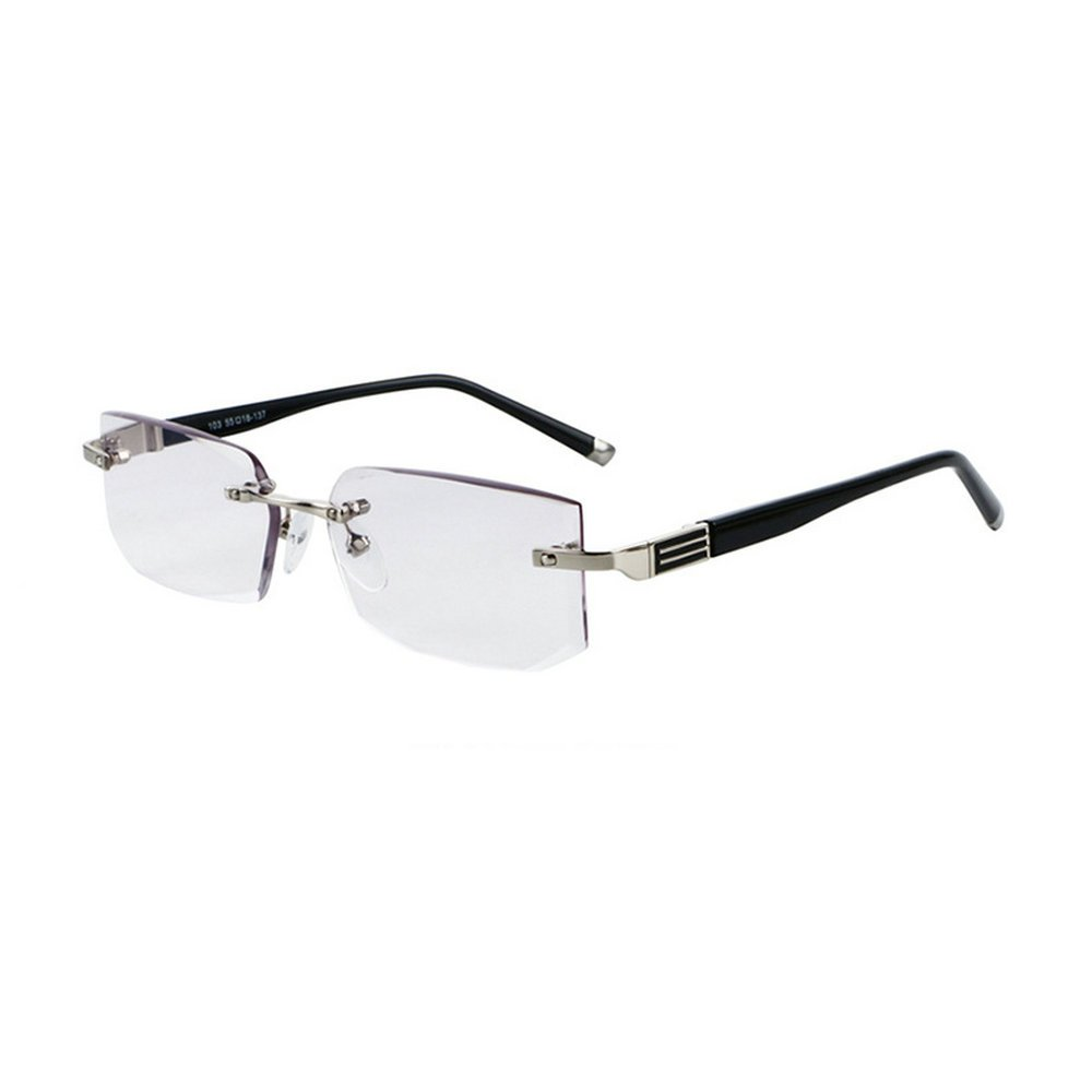 d57e5d590e2 Amazon.com  MINCL Rimless Lightweight Trimming Readers Ultra Comfort  Quality Glasses for Reading Men (black