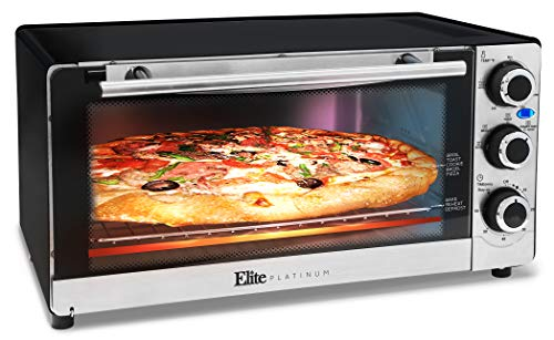Maximatic ETO-140C Elite Platinum Stainless Steel 6 Slice Convection Toaster Oven, Silver ()