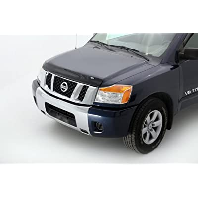 Auto Ventshade 23107 Bugflector Dark Smoke Hood Shield for 2004-2015 Nissan Titan, 2005-2015 Armada: Automotive