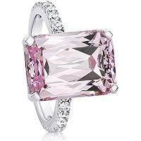 Sumanee Women Fashion 925 Silver Pink Kunzite Ring Wedding Bridal Jewelry Size 6-10 (7)