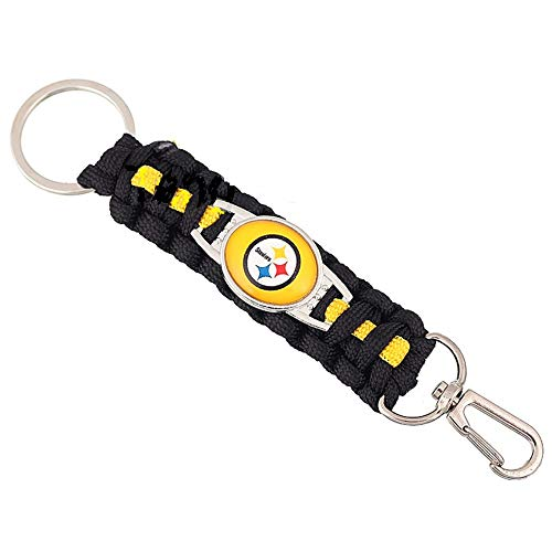 Swamp Fox Pittsburgh Steelers Paracord Keychain with Caribiner 6 inches ()
