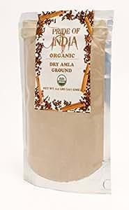 Pride Of India - Organic Amla (Indian Gooseberry) Ground, Half Pound