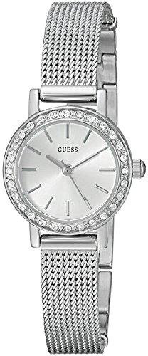 Guess Womens Crystal Bracelet Watch (GUESS Women's Stainless Steel Crystal Mesh Bracelet Watch, Color: Silver-Tone (Model: U0954L1))