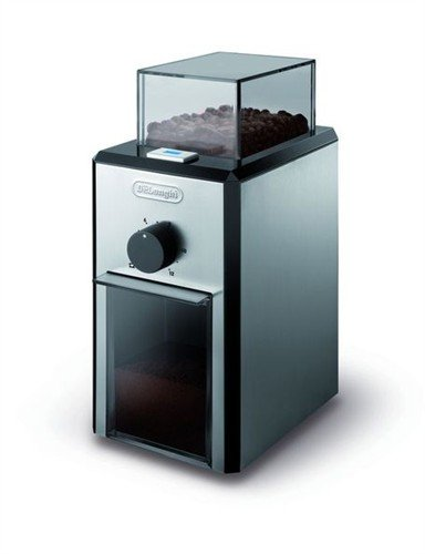 Delonghi KG89 Stainless Steel Burr Coffee Grinder, Silver
