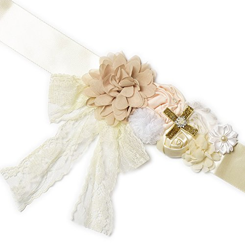 Maternity Bridal Wedding Sash Flower Belt Photography Prop Dress Accessories khaki (Womens : Khaki Clothing Accessories)