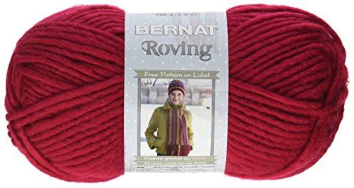 - Bernat Roving Yarn Knit, Cherry, Single Ball