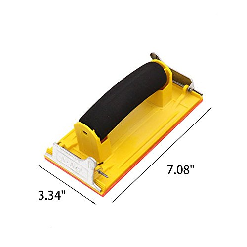 CGMJ Pack of 4 Sponge Handle Hand Sander Sand Paper Holder Clip by CGMJ (Image #1)