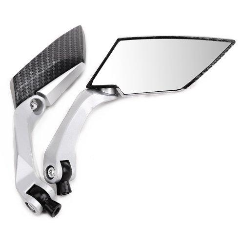 Universal Carbon 2x Motorrad Spiegel Rückspiegel Roller (2x 8/10mm Rechtsgewinde, incl. 1 extra Adapter M10 Linksgewinde)