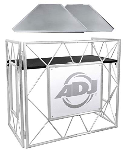 American DJ Pro Event Table II Foldable Portable DJ Booth Truss Facade+Shelves
