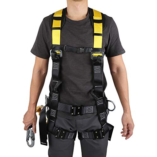 Commando Fall Protect Full-Body Safety Harness with Lanyard (ANSI and OSHA Compliant) by commando (Image #8)