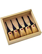 Flexcut Carving Tools, Beginners Palm Set, Gouges for Woodcarving, Set of 5 (FR310)