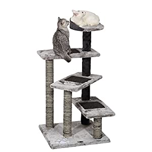 Ollieroo® Cat Tree Furniture Play Stairs 5 Tiers Cat Tower with Scratching Post Steps