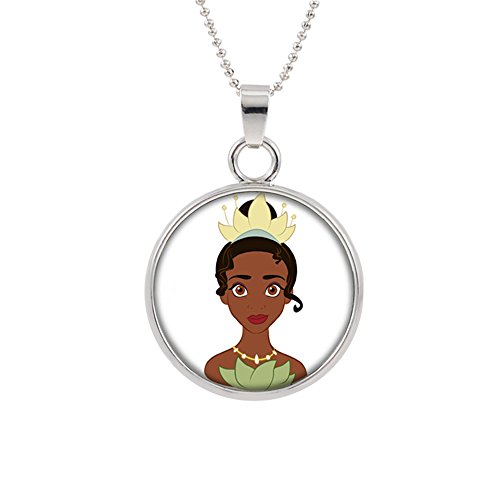 Princess and the Frog Tiana Disney Pendant Necklace TV Movies Classic Cartoons Superhero Logo Theme Princess Premium Quality Detailed Cosplay Jewelry Gift Series - Mario Frog