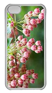 Customized iphone 5C PC Transparent Case - Tree Flowers Personalized Cover