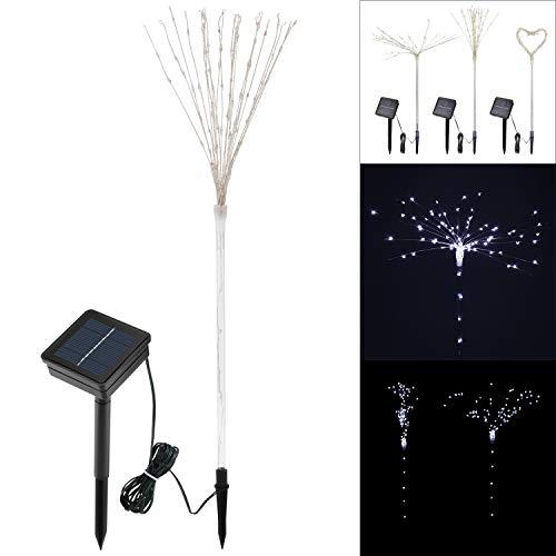 2pcs LED Firework Light Christmas 100 LED Waterproof Solar Powered Path Lamp DIY