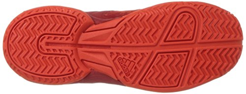 Pictures of adidas Unisex Ligra 5 K Tennis Shoe BY1859 Scarlet/Energy/Metallic Silver 7