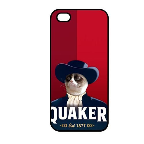 Coque,Protective Shell Cover Lovely Coque iphone SE & Coque iphone 5 & Coque iphone 5S Case Cover Cover Casing(Grumpy Cat Smiling)