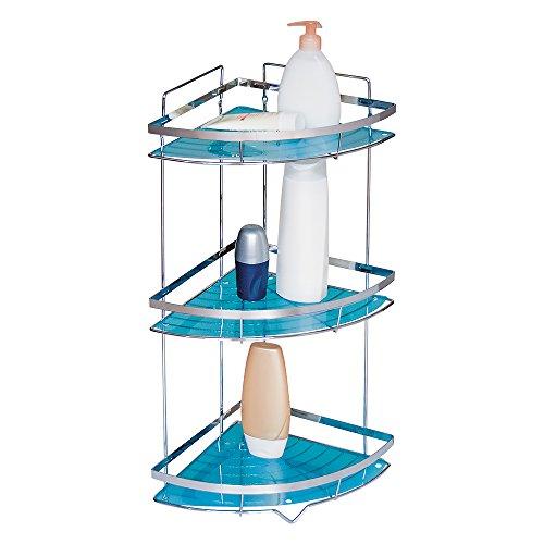 durable modeling Tatkraft Kanzler Bathroom Corner 3-Tier Shelf Shower Organiser Chromed Steel