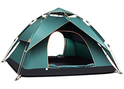 置くためにパック大破プログラムSAHASAHA ワンタッチテント テント 3~5人用 ワンタッチ 2WAY テント 設営簡単 防災用 キャンプ用品 撥水加工 紫外線防止 登山 折りたたみ 防水 通気性 アウトドア グリーン 240 * 210 * 135cm