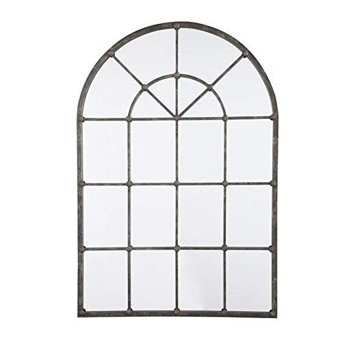 (Ashley Furniture Signature Design - Oengus Arched Window Finished Metal Mirror - Traditional - Bronze Finish)