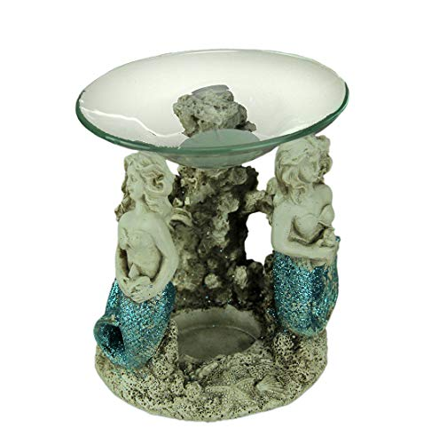 Chesapeake Bay Blue Glitter Tail Mermaids Tealight Oil Warmer