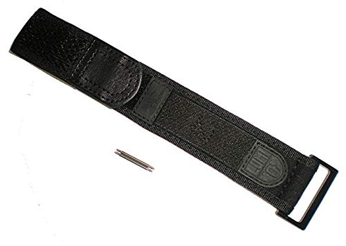 Blackout EVO Wide Band Luminox FN-3950-23-BO-1 Nylon Watch Band Strap Black Out 22/23 mm Series 3000/3900/3050/3080 by Luminox