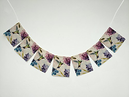 Hummingbird Painting Banner Bunting Garland Flag Sign for Home Family Party Decoration