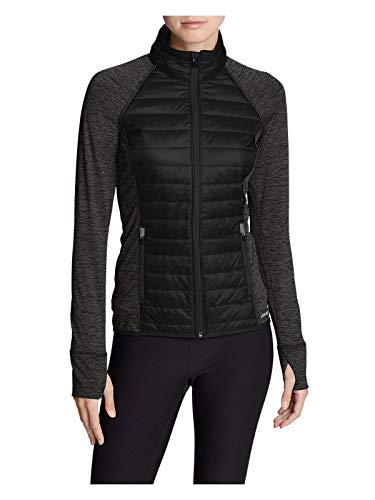 (Eddie Bauer Women's IgniteLite Hybrid Jacket, Black Regular)