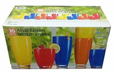 Colorful Opaque Acrylic Tumbler Set 16 Piece Set
