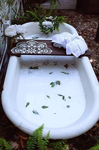 34 LoveYourself Body Flower Mandala Bath Caddy
