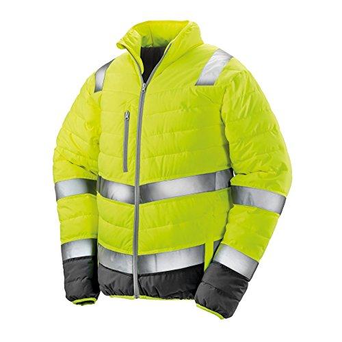 Jaune De Doux Rembourré Fluo Result Sécurité Veste Protection Homme UcWq16a