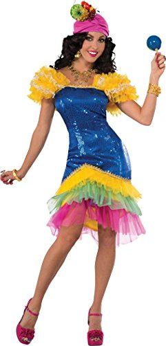 Ladies Adults Fancy Halloween Party Spanish Senorita Rumba Dancer Cha Cha Dress (Adult Spanish Dancer Costume)