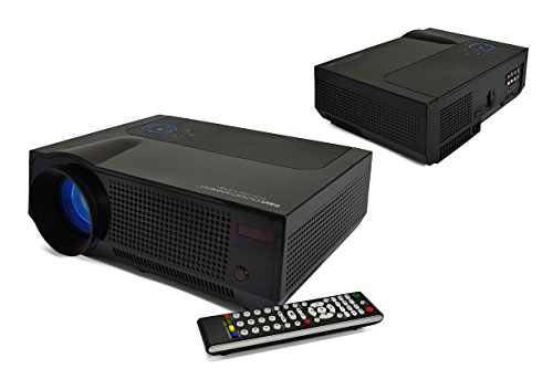 Premium Home Theater Projector By FAVI - Ultra Bright LED LCD - HD 720p Native Resolution - 4K Support - Built-In Speakers - Model No. RIOHDLED4T-US2