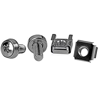 StarTech.com 50 Pkg M6 Mounting Screws and Cage Nuts for Server Rack Cabinet (CABSCREWM6) (B003OCRW16) | Amazon price tracker / tracking, Amazon price history charts, Amazon price watches, Amazon price drop alerts