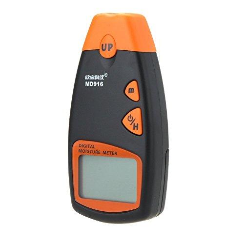 デジタルメーター デジタル水分計 軽量 携帯 2%~40% 筆記用紙、コート紙、新聞紙、段ボール箱用 MD916 高精度テスター