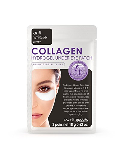6 Pairs Collagen Hydrogel Under Eye Patch   Korean Skin Care Eye Patches   By Skin Republic   Net 0 63 Oz  Pack Of 2  6 Pairs