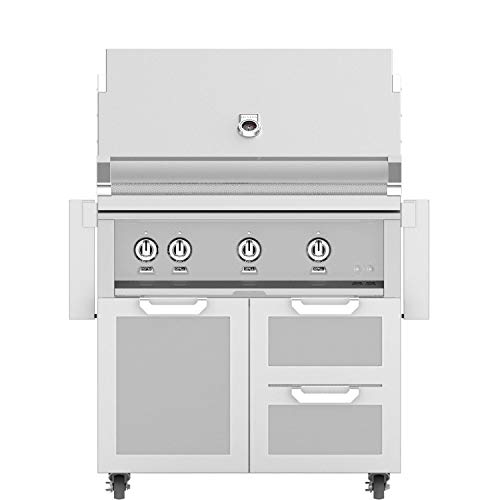 Discount Hestan Freestanding Grill with Door/Drawer Combo (GABR36-SS-LP-GCR36-SS), Steeletto, Propane, 36-Inches for cheap