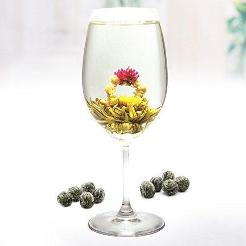 Lida-'' Two Dragon Play Pearl'' Blooming Flower Tea/Art Green Tea-Loose Leaf Tea-1000g/35.3oz by Lida (Image #1)