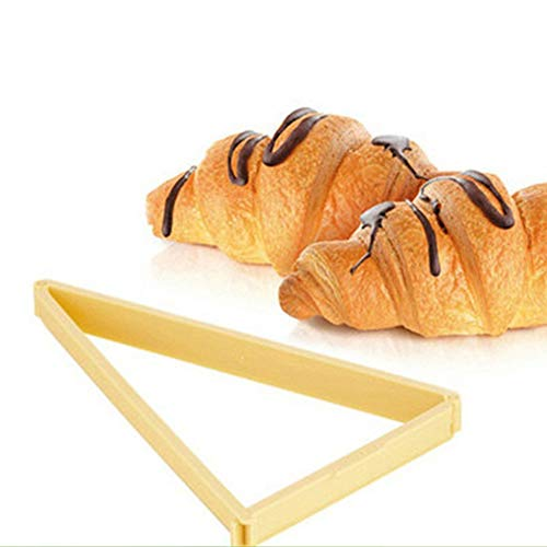 Kitchen DIY Croissant Triangle Tool Quick Pastry Dough Cutter Maker Stamper Bread Mould Gadgets (yellow)