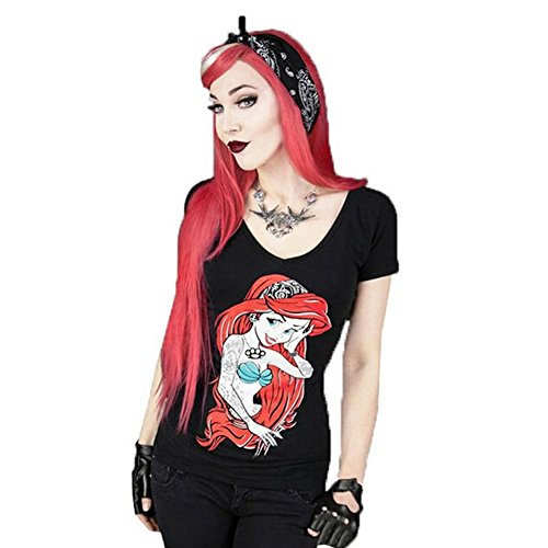 Oisk Womens Ladies Printed T-shirt Halloween Blouse (Small, (T Shirt Halloween Femme)