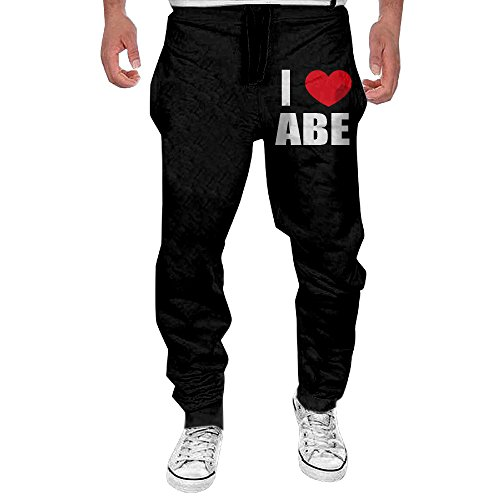 fantastic-mens-i-love-abe-i-love-abraham-heart-sweatpant-casual-black-top-quality-cotton