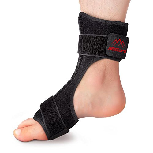 Knight Guard Side Bars - AEXCare Foot Brace Plantar Fasciitis Night / Day Splint, Injury Support for Heel Pain Relief, Adjustable