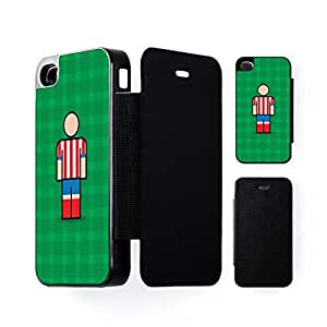 Athletico Black Flip Case for Apple? iPhone 4 / 4s by Blunt Football European + FREE Crystal Clear Screen Protector
