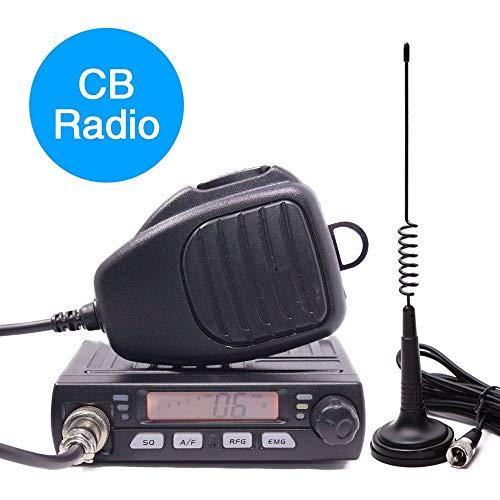 ABBREE AR-925 CB Radio 25.615-30.105MHz AM/FM 13.2V 4/8 Watts LCD Screen Shortware Citizen Band Multi-Norms Car Mobile Radio with CB Antenna