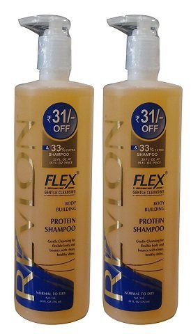 2 X Revlon Flex Body Building Shampoo Normal to Dry, 592ml Each