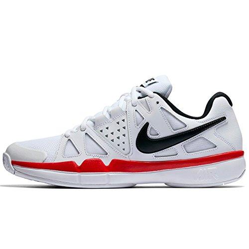 6c34cbf984076 Galleon - Nike Mens Air Vapor Advantage Tennis Shoes (10.5, White/Black-University  Red)