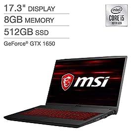 2020 MSI GF75 Thin Gaming Laptop: 10th Gen Core i5-10300H, 512GB SSD, 17.3″ Full HD 120Hz Display, NVIDIA GTX 1650, 8GB RAM