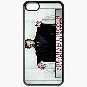 Personalized iPhone 5C Cell phone Case/Cover Skin Abraham lincoln vampire hunter benjamin walker abraham lincoln actor Movies Black