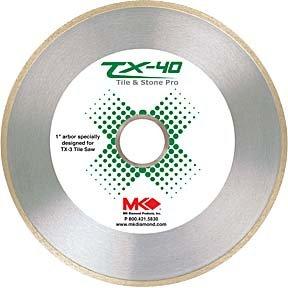 - MK Diamond 166968 Wet Cutting Continuous Rim TX-40