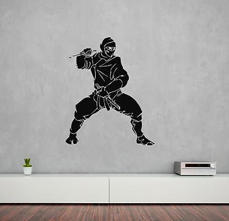 Pegatina de Pared Vinilo Adhesivo Ninja asesino Japón ...